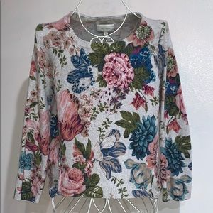 Anthropologie Angel Of The North Floral Sweater S